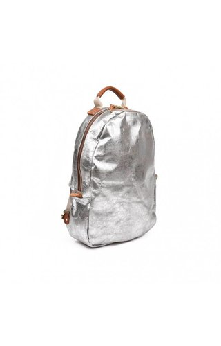 UASHMAMA® Memmo Backpack Nuvola Gray / Silver
