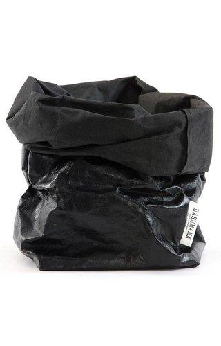 UASHMAMA® Sac en papier noir / noir