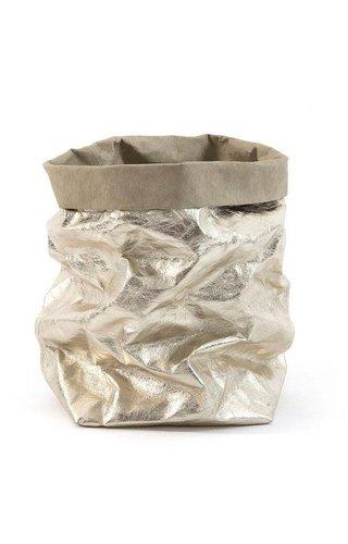 UASHMAMA® Paper Bag Sabbia/Platino