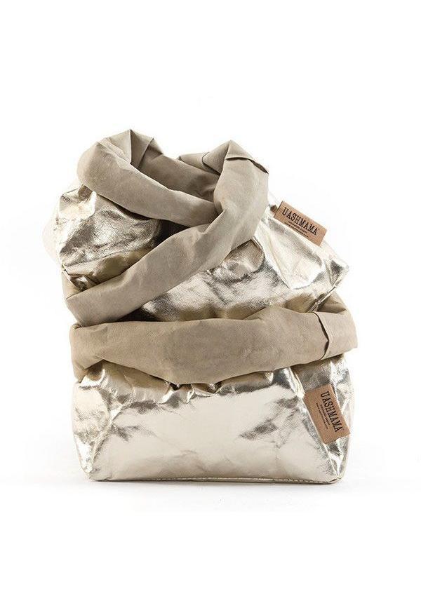 Paper Bag Sabbia / Platino