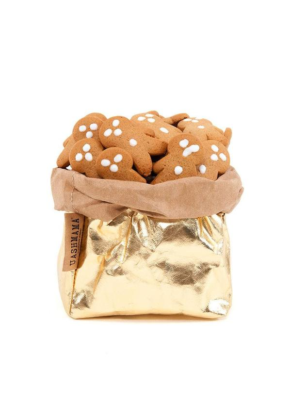 Paper Bag Gold/Naturel