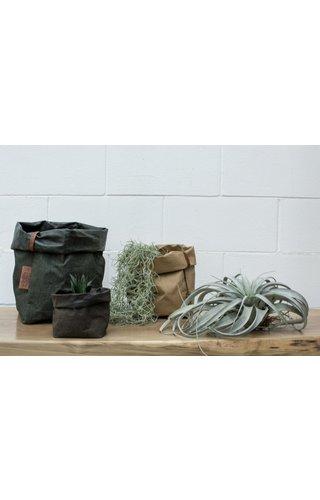 UASHMAMA® Paper Bag Square Tec D. Gray