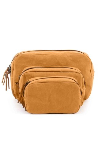 UASHMAMA® Beauty Case Camel