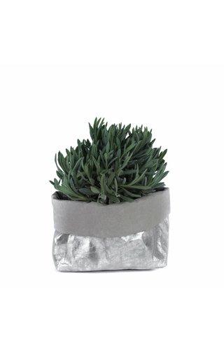 UASHMAMA® Paper Bag Nuvola Gray / Silver
