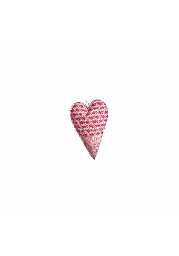 Deco Heart Print Small White/Toscana