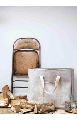 UASHMAMA® Wood Bag Grey