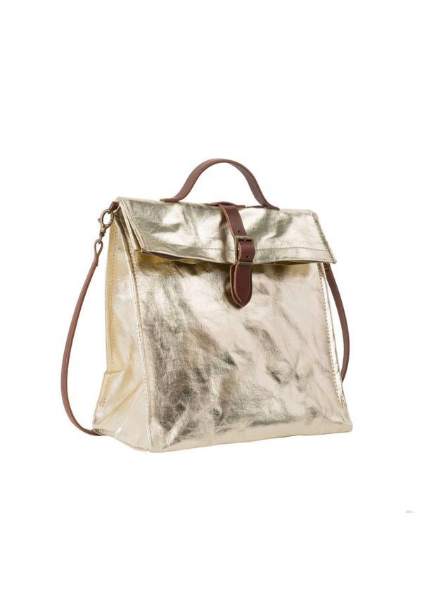 Lunch Bag + Handle Metallic