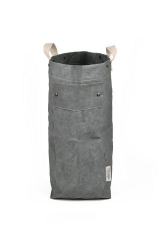 UASHMAMA® Sac à linge gris foncé