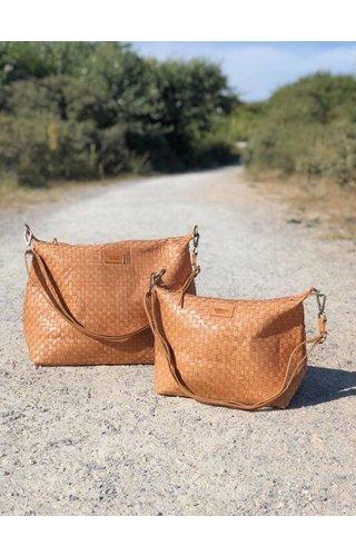 UASHMAMA® Gemma Bag Weaved Camel