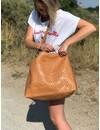 Gemma Bag Weaved Camel