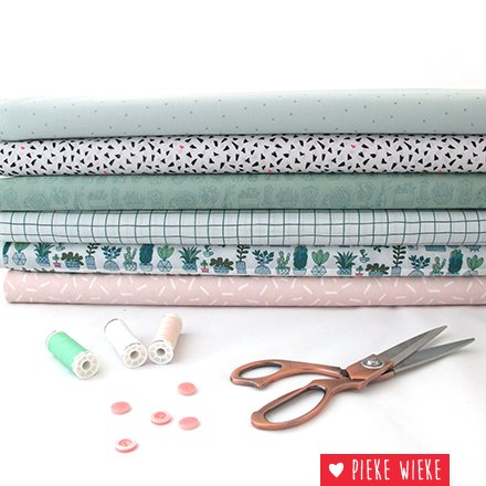 Rico design Cotton Hygge checked green