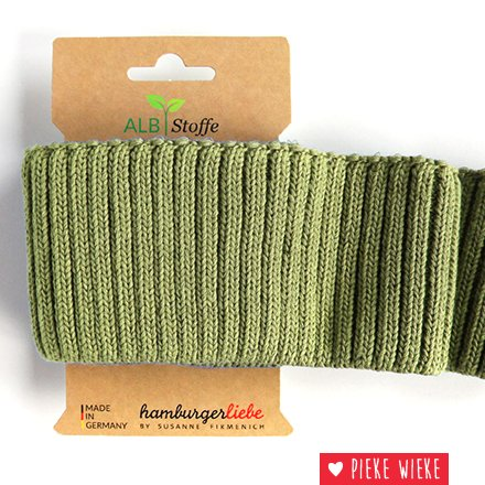 Albstoff Cuff Me Cozy sleeve collar Griglio Olivia green