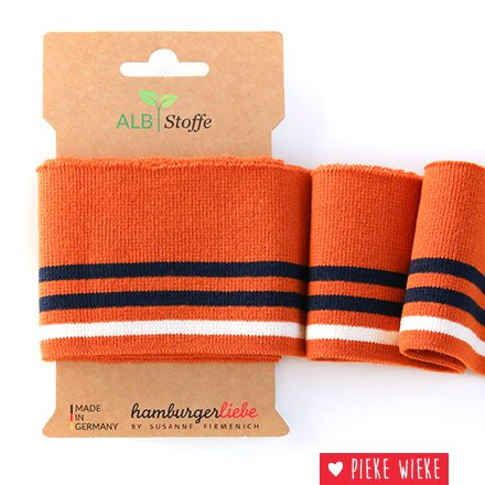Albstoff Cuff Me College 3 lijnen Oranje