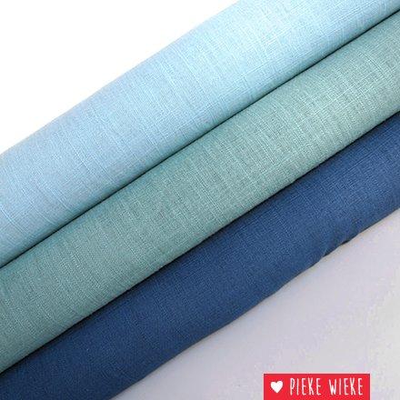 Soepel viscose linnen Diepzeeblauw