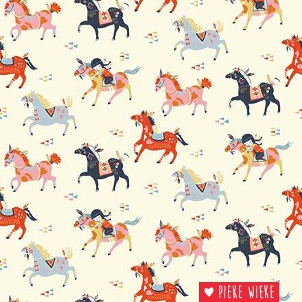 Birch Fabrics Knit Wildland wild Horses