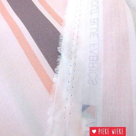 About blue fabrics Katoen Stripes Blanche