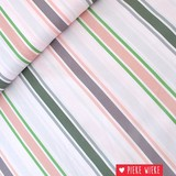 About blue fabrics Cotton Stripes Blanche