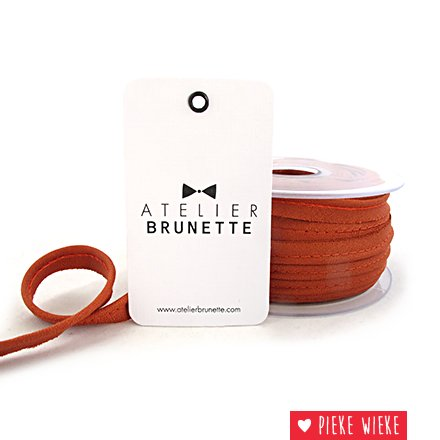Atelier Brunette Crêpe paspel Kastanje bruin