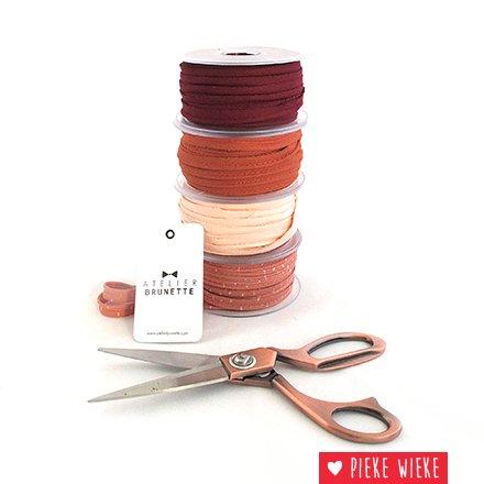 Atelier Brunette Crepe piping Amarante