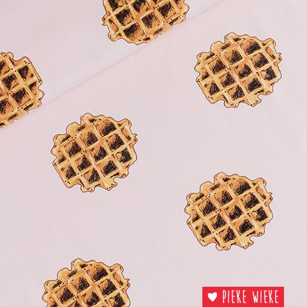 See You at Six French Terry Wafels Zacht roze