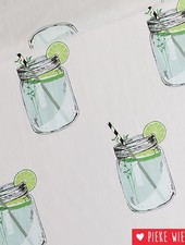 See You at Six Cotton Lawn Iced Tea Light gray