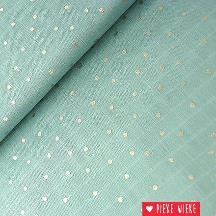 Rico design Double Gauze Hotfoil  Mint green