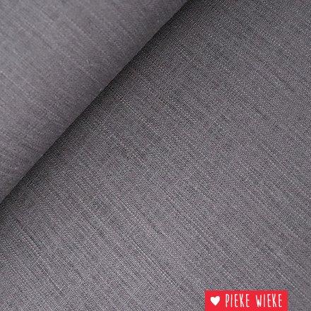 Smooth viscose linen Antracite gray