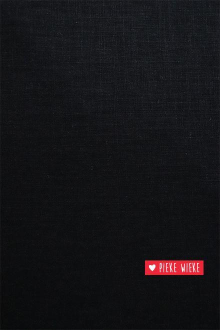 Smooth viscose linen Black
