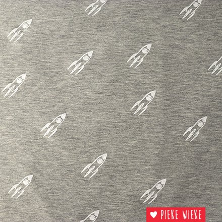 Poppy Tricot Glow in the dark rockets gray
