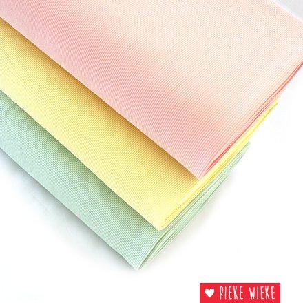 Eva Mouton Eva Mouton Ribbed fabric Pastel yellow