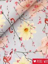 Poppy Canvas Flamingo bloemen
