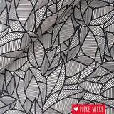 Poppy Canvas Naturel bladeren Zwart