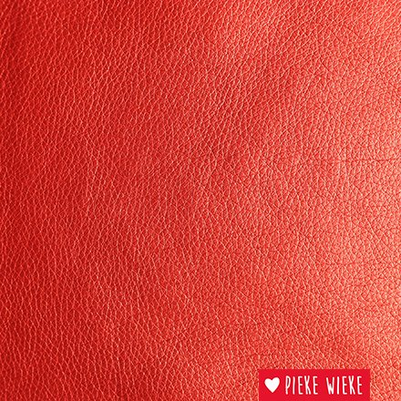 Artificial leather extra supple Metallic red