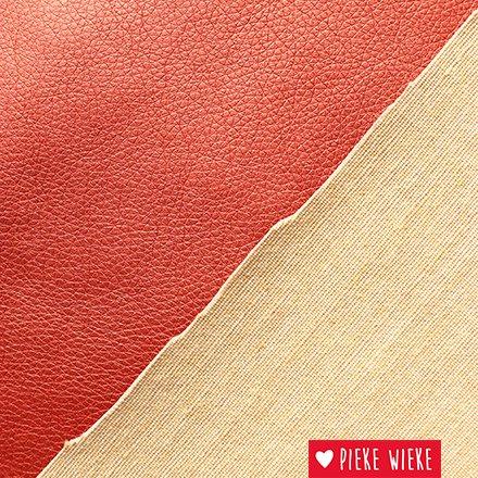 Kunstleer extra soepel  Metallic rood