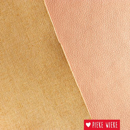Artificial leather extra supple Metallic pink