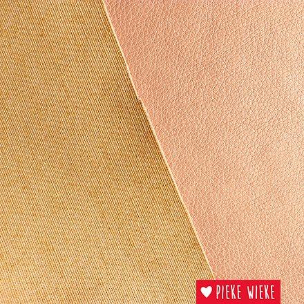 Kunstleer extra soepel  Metallic roze