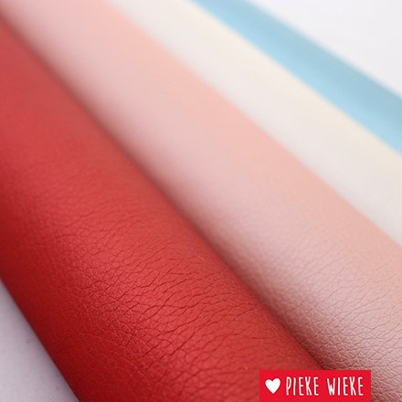 Artificial leather extra supple Metallic white