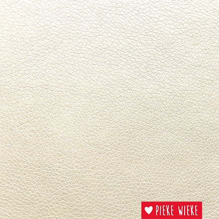 Artificial leather extra supple Metallic white