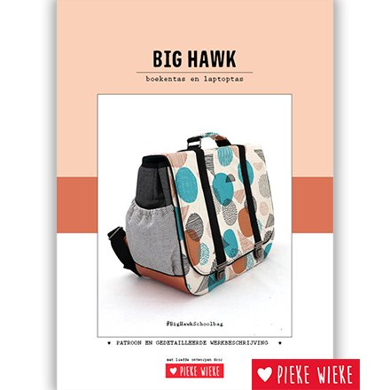 Pieke Wieke Big Hawk book bag digital pattern