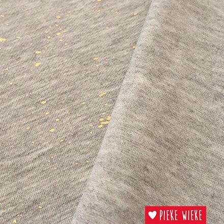 Viscose jersey gold spash gray melange
