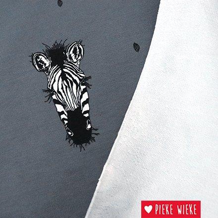 Bloome CPH French terry Safari Zebras  Gray
