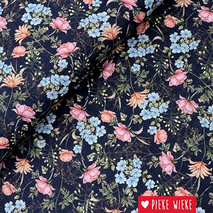 Cotton viscose flower garden