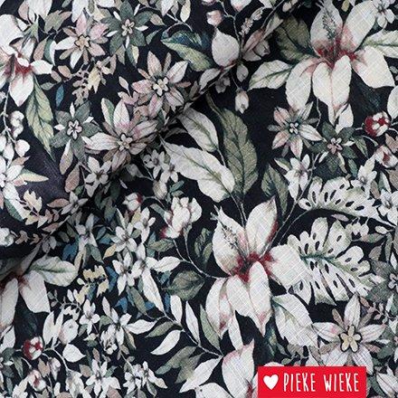 Katoen viscose bloemenprint