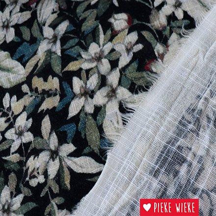 Soepele katoen viscose bloemenprint