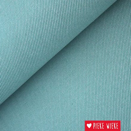Canvas oblique woven jacquard Old mint - white