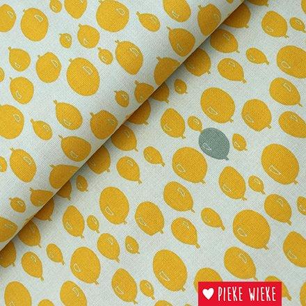 Katoen Balonnen geel
