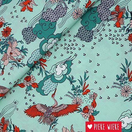 Katia Cotton popline Oriental Retro Mint