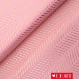 Rico design Cotton Stripes PInk - Hotfoil