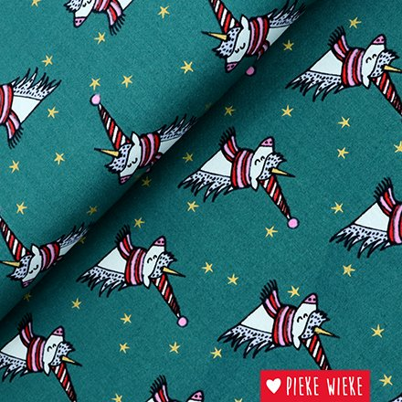 Rico design Cotton Winter Unicorn Green