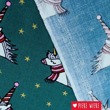 Rico design Cotton Magical Christmas Unicorn Green